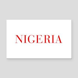 Nigeria-Bau red 400 Rectangle Car Magnet