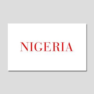 Nigeria-Bau red 400 Car Magnet 20 x 12