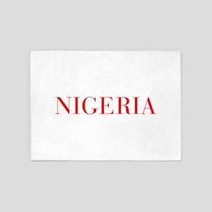Nigeria-Bau red 400 5'x7'Area Rug