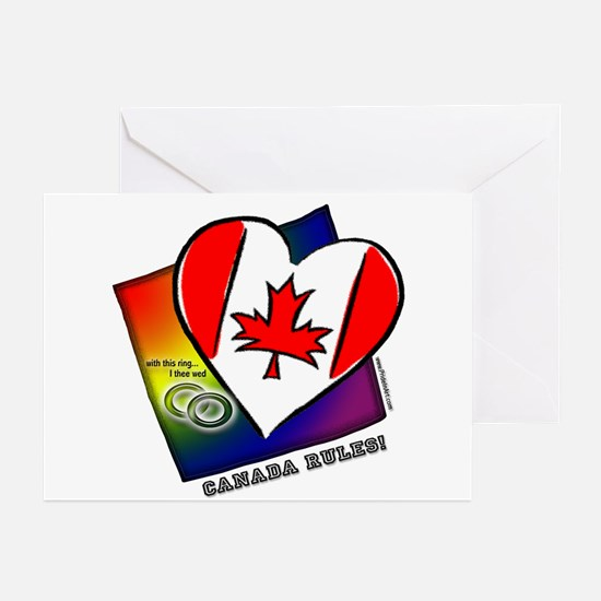 Gay Marriage Canada Rules Greeting Cards (Package