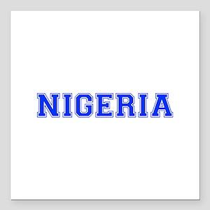 """Nigeria-Var blue 400 Square Car Magnet 3"""" x 3"""""""