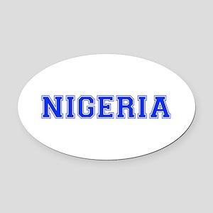 Nigeria-Var blue 400 Oval Car Magnet