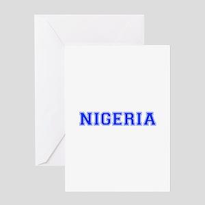Nigeria-Var blue 400 Greeting Cards