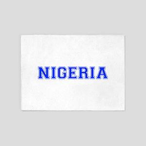 Nigeria-Var blue 400 5'x7'Area Rug