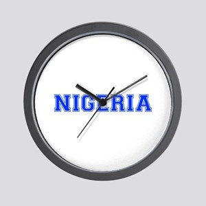 Nigeria-Var blue 400 Wall Clock