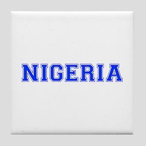 Nigeria-Var blue 400 Tile Coaster