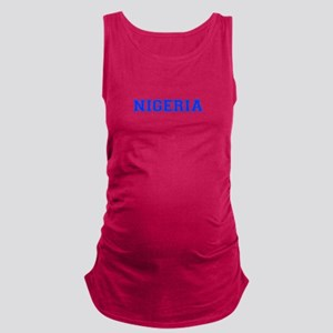 Nigeria-Var blue 400 Maternity Tank Top