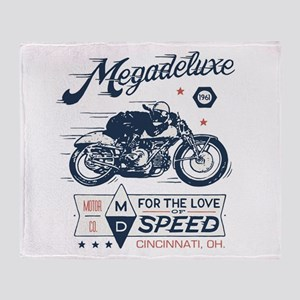 Bike Love of Speed Throw Blanket