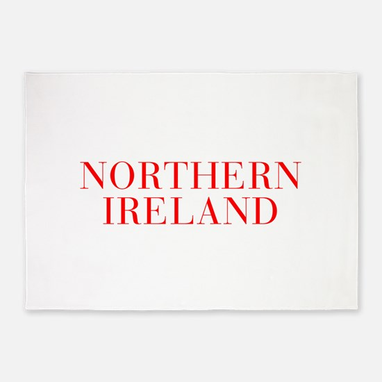 Northern Ireland-Bau red 400 5'x7'Area Rug