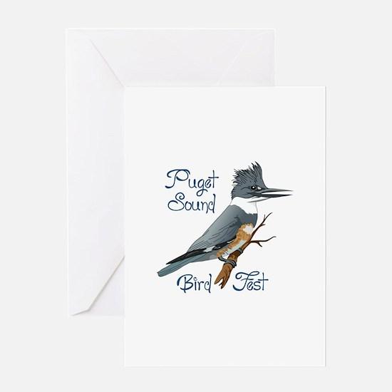 PUGET SOUND BIRD FEST Greeting Cards