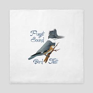 PUGET SOUND BIRD FEST Queen Duvet