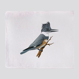 BELTED KINGFISHER Throw Blanket