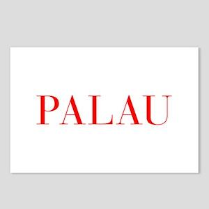 Palau-Bau red 400 Postcards (Package of 8)