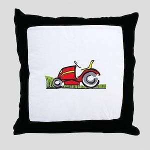 RIDING LAWNMOWER Throw Pillow