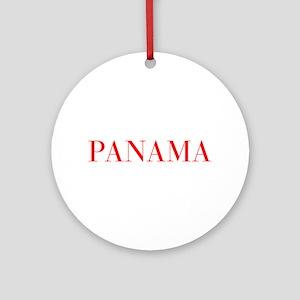 Panama-Bau red 400 Ornament (Round)
