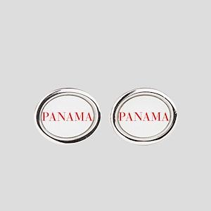 Panama-Bau red 400 Oval Cufflinks