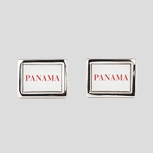 Panama-Bau red 400 Rectangular Cufflinks
