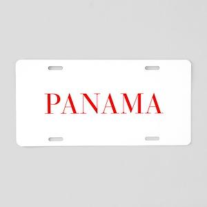 Panama-Bau red 400 Aluminum License Plate