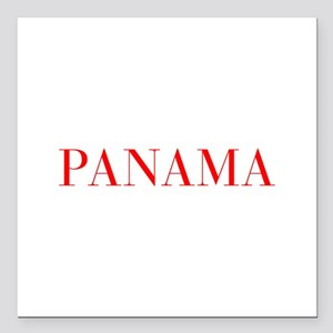 "Panama-Bau red 400 Square Car Magnet 3"" x 3"""