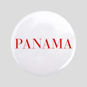 "Panama-Bau red 400 3.5"" Button"