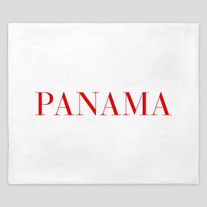 Panama-Bau red 400 King Duvet