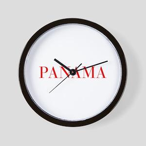 Panama-Bau red 400 Wall Clock