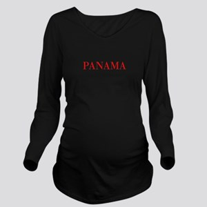Panama-Bau red 400 Long Sleeve Maternity T-Shirt
