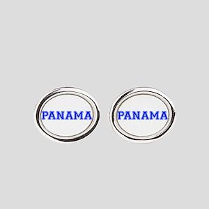 Panama-Var blue 400 Oval Cufflinks