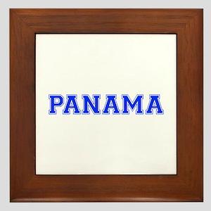Panama-Var blue 400 Framed Tile