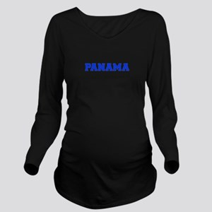 Panama-Var blue 400 Long Sleeve Maternity T-Shirt