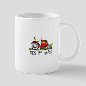 KISS MY GRASS Mugs