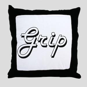 Grip Classic Job Design Throw Pillow