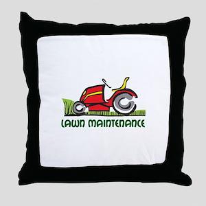 LAWN MAINTENANCE Throw Pillow