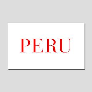 Peru-Bau red 400 Car Magnet 20 x 12