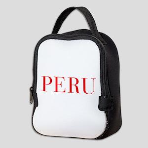 Peru-Bau red 400 Neoprene Lunch Bag