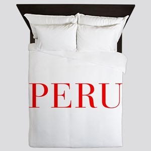Peru-Bau red 400 Queen Duvet
