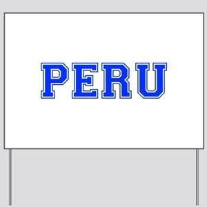 Peru-Var blue 400 Yard Sign