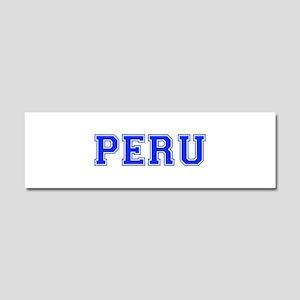Peru-Var blue 400 Car Magnet 10 x 3