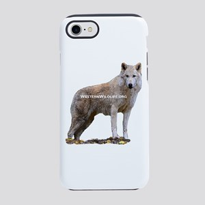 Standing Gray Wolf iPhone 7 Tough Case