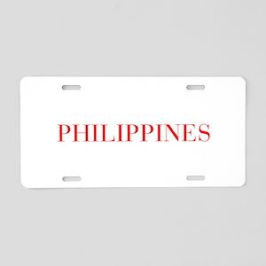 Philippines-Bau red 400 Aluminum License Plate