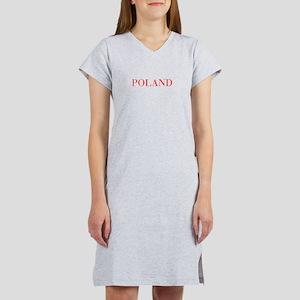 Poland-Bau red 400 Women's Nightshirt