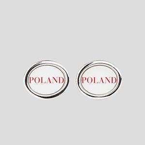 Poland-Bau red 400 Oval Cufflinks
