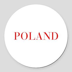 Poland-Bau red 400 Round Car Magnet