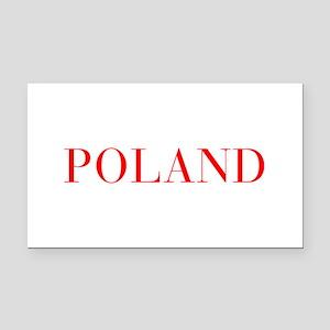 Poland-Bau red 400 Rectangle Car Magnet