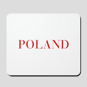 Poland-Bau red 400 Mousepad