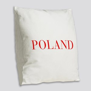 Poland-Bau red 400 Burlap Throw Pillow