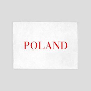 Poland-Bau red 400 5'x7'Area Rug