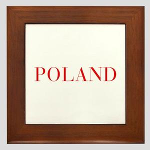 Poland-Bau red 400 Framed Tile
