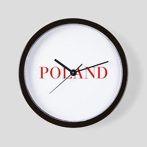 Poland-Bau red 400 Wall Clock