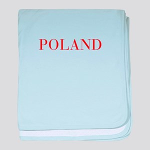 Poland-Bau red 400 baby blanket